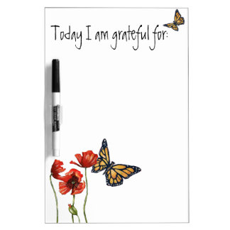 Gratitude Reminder List for Your Fridge Dry Erase Board