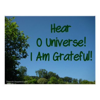 Gratitude to the Universe Affirmation Poster