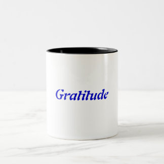 Gratitude Two-Tone Coffee Mug