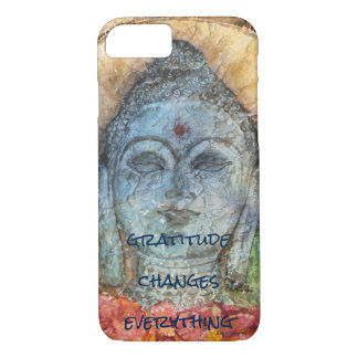 Gratitude Zen Buddha Watercolor Art Phone Case