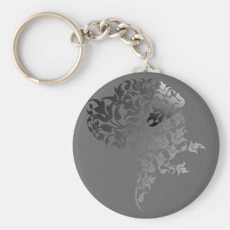 Grau Verlauf Doggenkopf Keychain