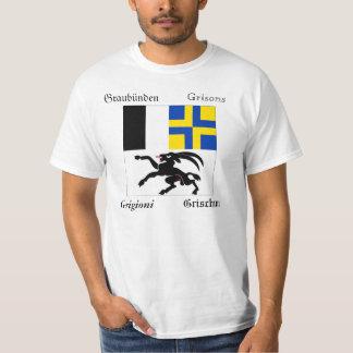Graubünden Four Language Swiss Canton Flag T-Shirt