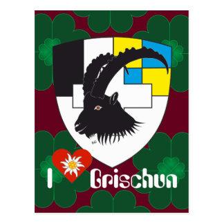 Graubünden Grischun Switzerland Suisse postcard