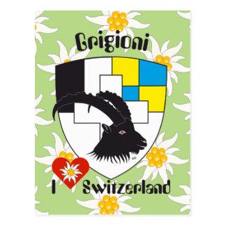 Graubünden Grischun Switzerland Svizra postcard