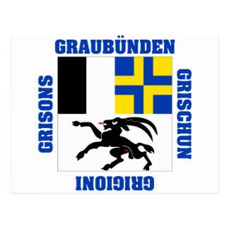 Graubunden Switzerland Canton Flag Postcards