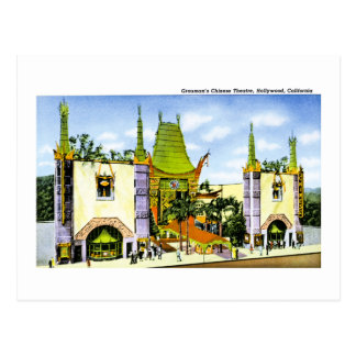 Grauman's Chinese Theater , Hollywood Postcard