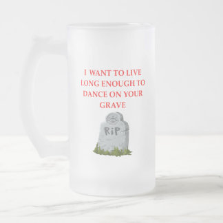 GRAVE FROSTED GLASS BEER MUG