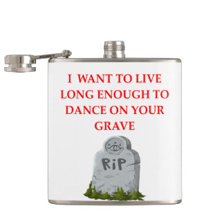 GRAVE HIP FLASK