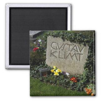 Grave Of Gustav Klimt Square Magnet