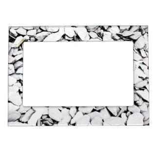 Gravel and slate magnetic frame