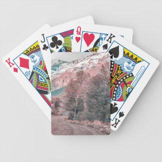Gravel Empty Road - Parque Nacional Los Glaciares Bicycle Playing Cards