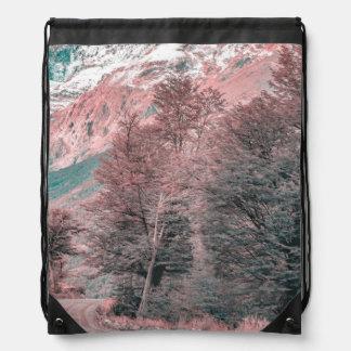 Gravel Empty Road - Parque Nacional Los Glaciares Drawstring Bag