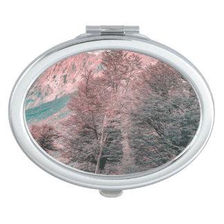 Gravel Empty Road - Parque Nacional Los Glaciares Makeup Mirrors