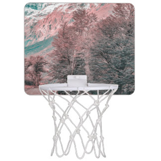 Gravel Empty Road - Parque Nacional Los Glaciares Mini Basketball Hoop