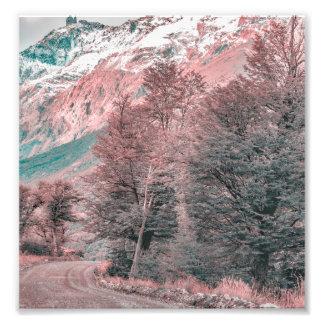 Gravel Empty Road - Parque Nacional Los Glaciares Photo Print