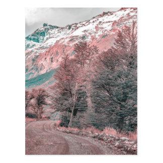 Gravel Empty Road - Parque Nacional Los Glaciares Postcard