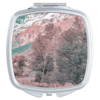 Gravel Empty Road - Parque Nacional Los Glaciares Vanity Mirror
