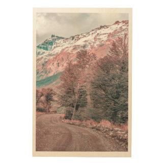 Gravel Empty Road - Parque Nacional Los Glaciares Wood Print