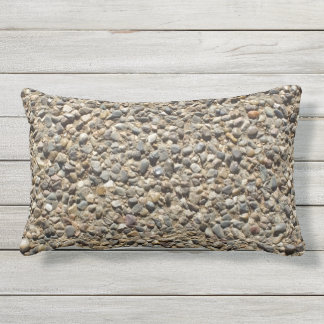 Gravel & Sand Photo on Pilllow Outdoor Pillow