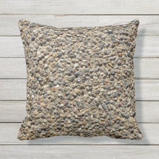 Gravel & Sand Photo on Pilllow Throw Pillow