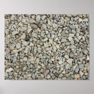 Gravel texture poster