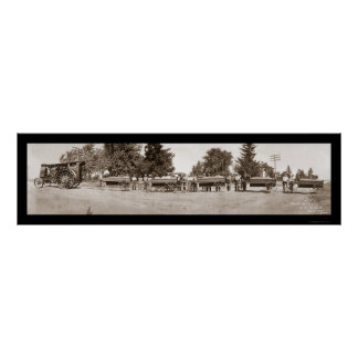 Gravel Train Iowa Photo 1913 Poster