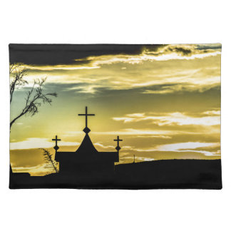 Graves at Side of Road in Santa Cruz, Argentina Placemat