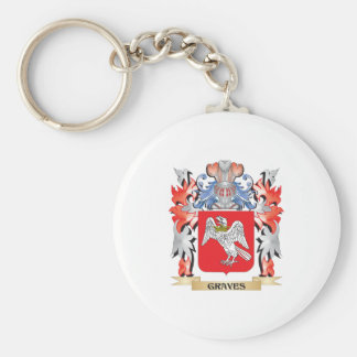 Graves Coat of Arms - Family Crest Keychain