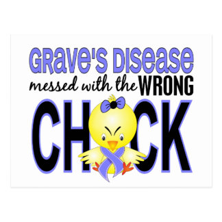 Grave's Disease Messed With Wrong Chick Postcard