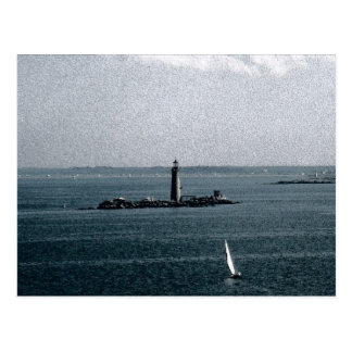 Graves Light in Boston Harbor Postcard