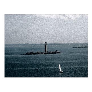 Graves Light in Boston Harbour Postcard
