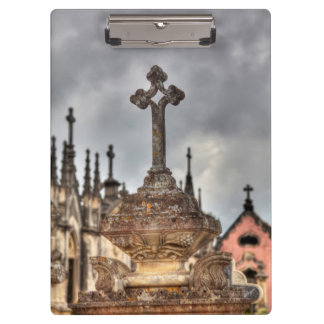 Graveyard cross close-up, Portugal Clipboards