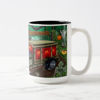 GRAVEYARD GHOST TOURS Two-Tone COFFEE MUG
