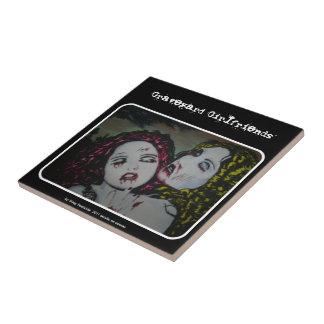 Graveyard Girlfriends Ceramic Tile