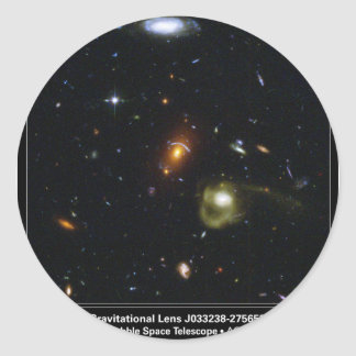 Gravitational Lens Bending Light Classic Round Sticker