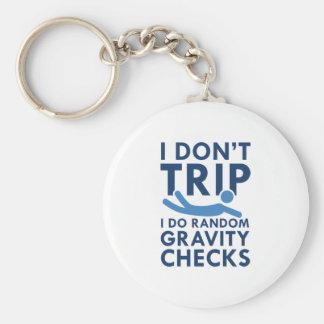 Gravity Checks Basic Round Button Keychain