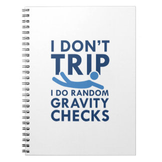 Gravity Checks Spiral Notebook