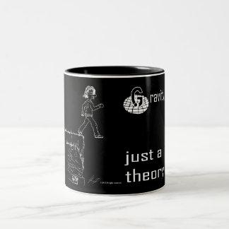 Gravity, just a theory. (White & Black) mug