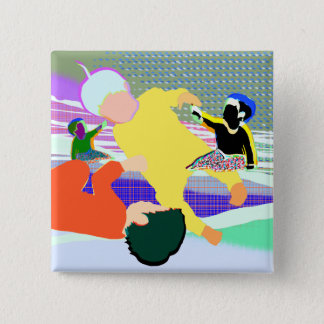 Gravity people 2 inch square button