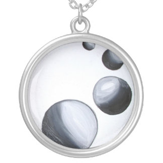 Gravity Silver Plated Necklace