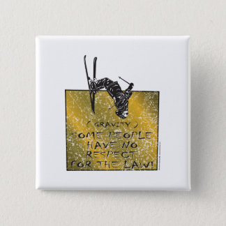 Gravity Skier 2 Inch Square Button