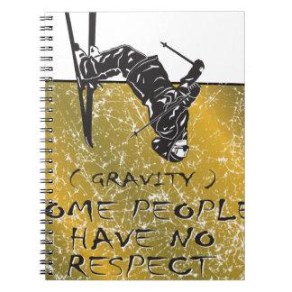Gravity Skier Spiral Notebook