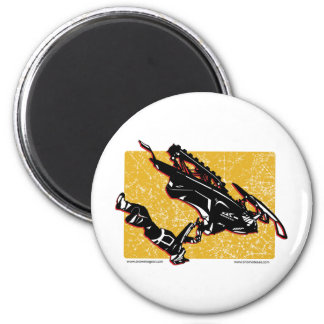 GRAVITY-SLED-in-Yellow 2 Inch Round Magnet
