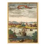 Gravure 1686 d'antiquité de St Augustine la Florid Carte Postale