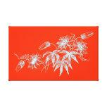 Gravure à l'eau-forte de fleur de passion dans le  toile tendue sur châssis