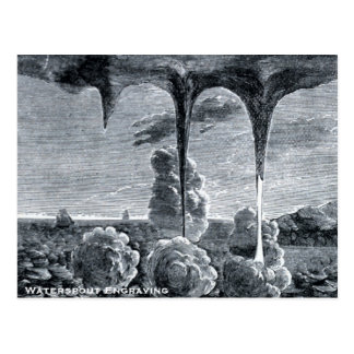 Gravure de trombe carte postale