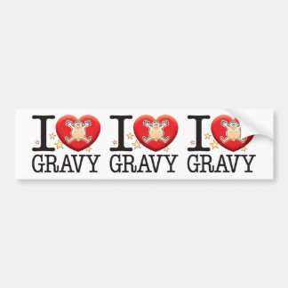 Gravy Love Man Bumper Sticker