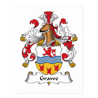 Grawe Family Crest Post Card