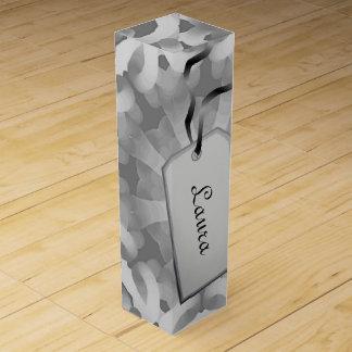 Gray abstract design wine gift box