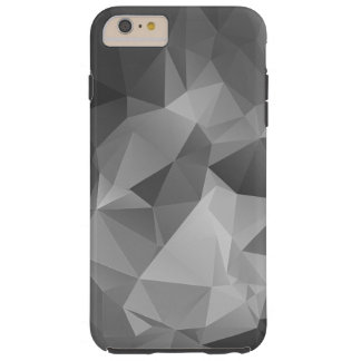 Gray Abstract Pyramid Art Tough iPhone 6 Plus Case